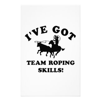 Team Roping designs and gift items Stationery