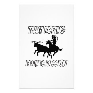 Team Roping designs Personalized Stationery
