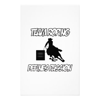 TEAM ROPING designs Stationery Paper