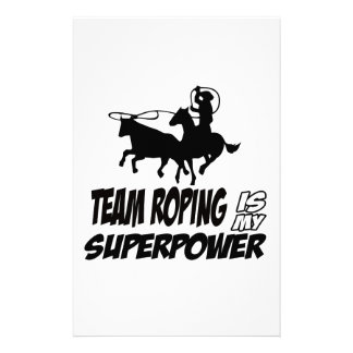 Team roping designs stationery