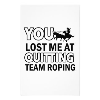 Team roping designs stationery design