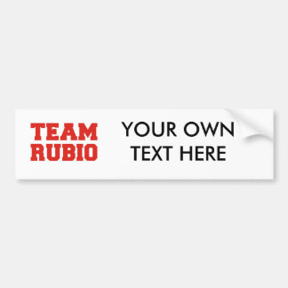 TEAM RUBIO.png Bumper Sticker