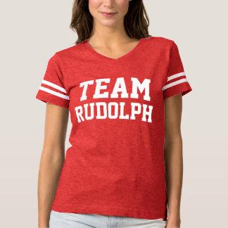 Team Rudolph   Christmas   Custom Name T-Shirt