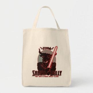 Team Saber Bully Anti- Cyber Bullying Club Grocery Tote Bag