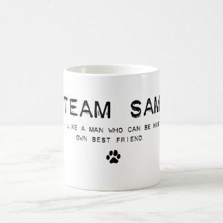 team sam classic white coffee mug