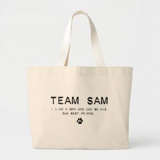 team sam tote bags