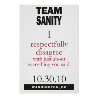Team Sanity poster
