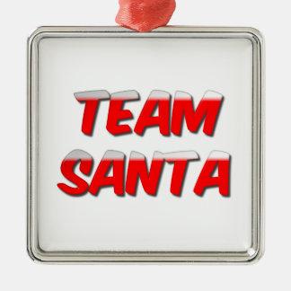Team Santa Metal Christmas Ornament