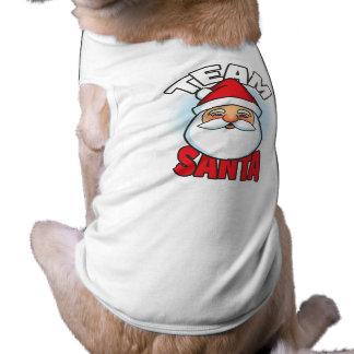 Team Santa Sleeveless Dog Shirt