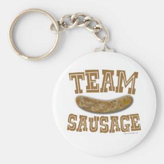 Team Sausage Basic Round Button Key Ring