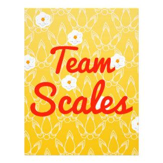 Team Scales Flyer Design