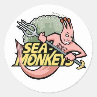 Team Sea-Monkeys Round Sticker