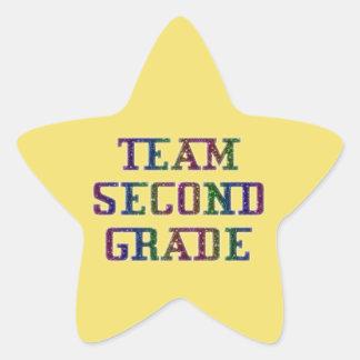 Team Second Grade, Yellow Novelty School Stickers