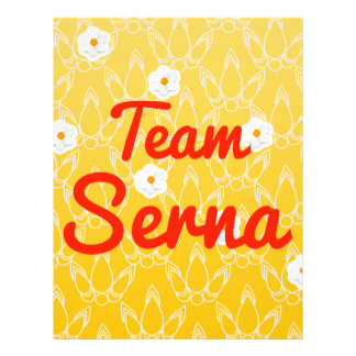 Team Serna Custom Flyer