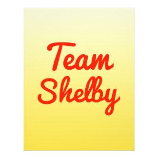 Team Shelby 21.5 Cm X 28 Cm Flyer