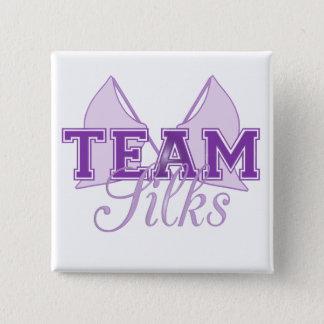 Team Silks Purple 15 Cm Square Badge