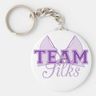 Team Silks Purple Key Ring