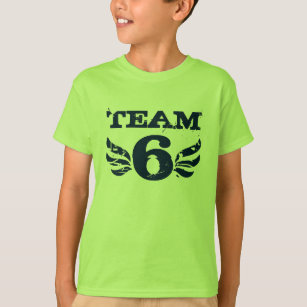 Team Six 6 Years Old Boy Birthday T Shirt