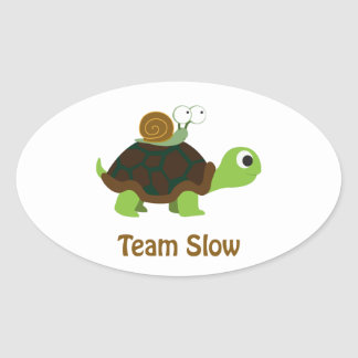Team Slow Oval Sticker