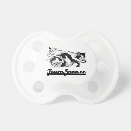Team Snooze (Three Snuggling Sleeping Cats) Baby Pacifier