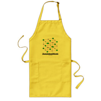 Team Sodium Chloride (Crystal Lattice Structure) Long Apron