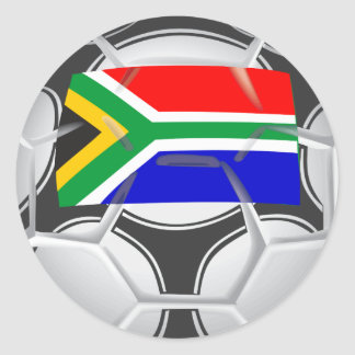 Team South Africa Football Round Sticker