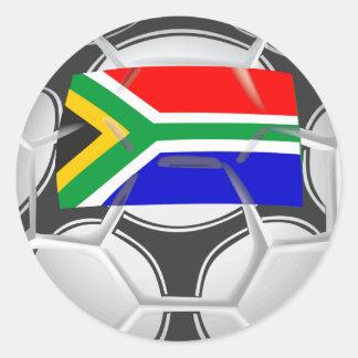 Team South Africa Football Round Sticker