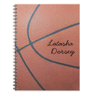 Team Spirit_Basketball texture_Autograph Style Spiral Notebook