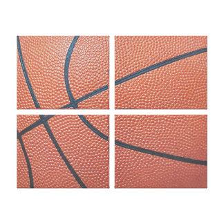 Team Spirit_Basketball texture_Hoops Lover Canvas Print