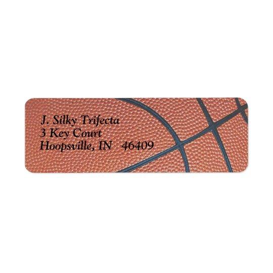 Team Spirit_Basketball texture_Hoops Lover Return Address Label