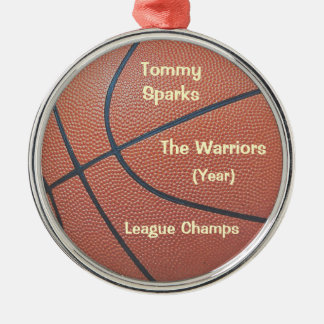Team Spirit_Basketball texture_Hoops Lovers' award Christmas Ornament