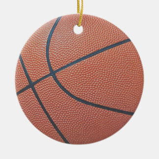 Team Spirit_Basketball texture_Hoops Lovers Round Ceramic Decoration