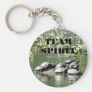 Team Spirit Turtle Photo Motivational Key Ring
