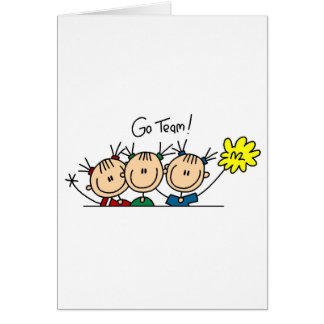 Team Sport Cheerleading Tshirts and Gifts Greeting Card