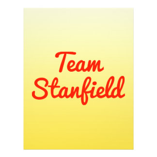 Team Stanfield Personalized Flyer