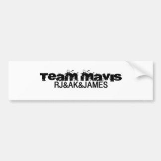 team sticker bumper sticker
