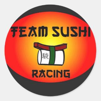 Team Sushi Racing Classic Round Sticker