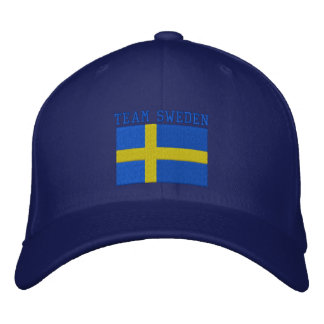 TEAM Sweden 2010 Dated Customizable Embroidered Baseball Caps