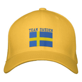 TEAM Sweden 2010 Dated Customizable Embroidered Hat