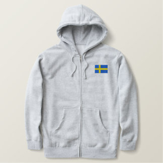 TEAM SWEDEN Swedish Sports With Flag Embroidered Hoodie