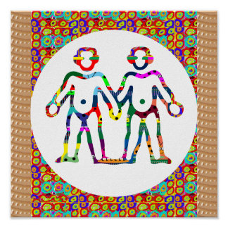 Team Symbolic Colorful Art Insect Biology Decor Posters