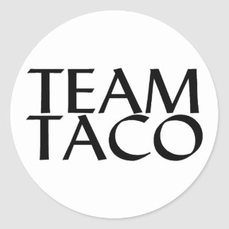 Team Taco Round Sticker