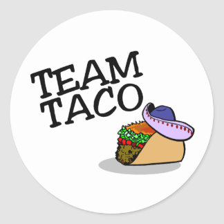 Team Taco Taco Round Sticker