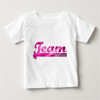 Team Taylor-Pink Sparkle Baby T-Shirt
