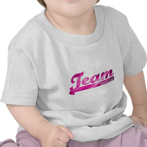 Team Taylor-Pink Sparkle Shirts
