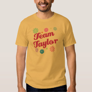 Team Taylor with Flower Accents Tshirt