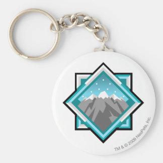 Team Terror Mountain Logo Basic Round Button Key Ring
