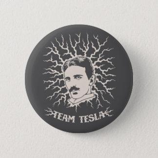Team Tesla 6 Cm Round Badge