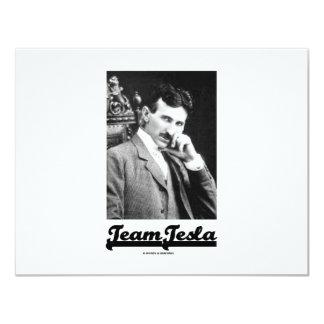 Team Tesla (Nikola Tesla) 11 Cm X 14 Cm Invitation Card