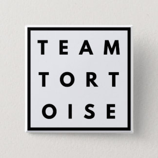 Team Tortoise Funny Square Badge